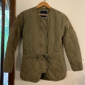 Madewell quilted drawstring jacket XXS